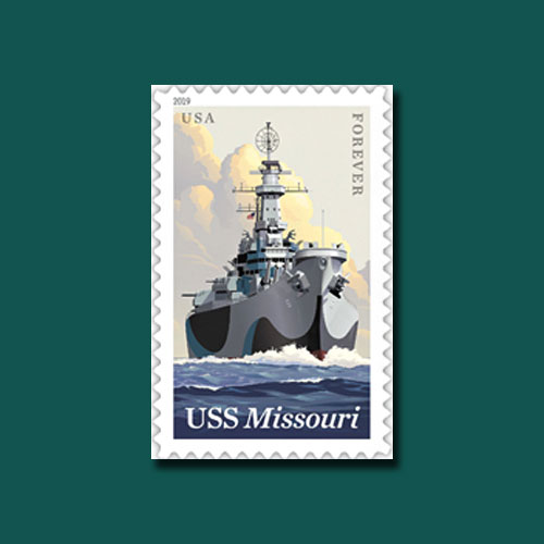 USPS-Pays-Tribute-to-America's-Last-Battleship