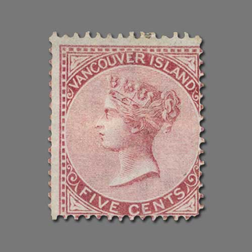 Vancouver-Island-1865-5c-Rose-stamp-