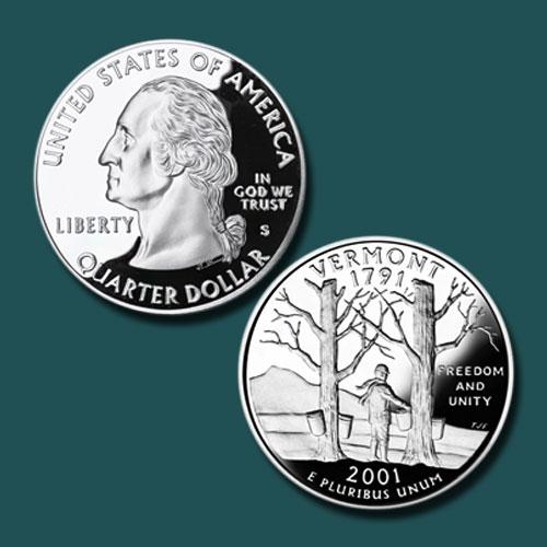 Vermont-State-Quarter-Dollar