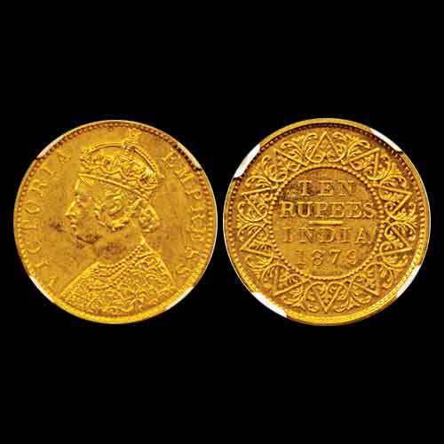 Victoria-Empress-Gold-10-Rupee-Listed-For-INR-4,75,000