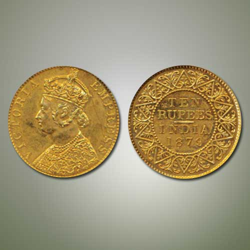 Victoria-Empress-Gold-Ten-Rupee-Listed-For-INR-6,00,000