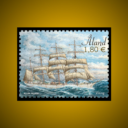 Viking-Ship-issued-by-Aland