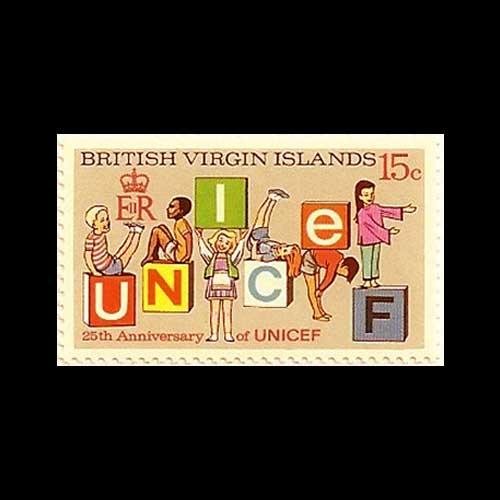 Virgin-Island's-UNICEF-Silver-Jubilee-Stamp