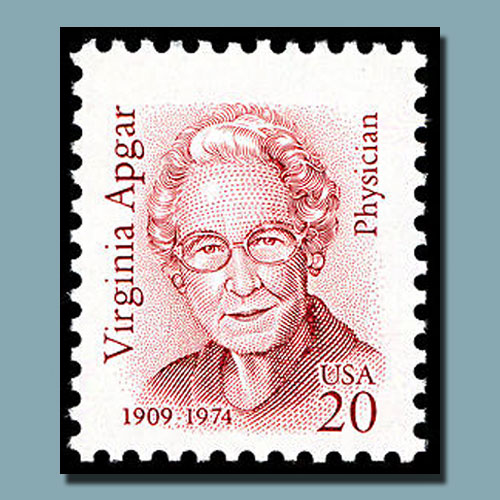 Virginia-Apgar-on-US-stamp
