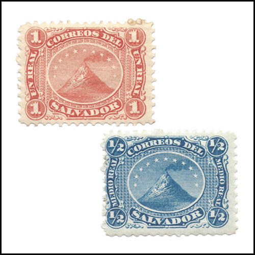 Volcano-Stamps-of-El-Salvador