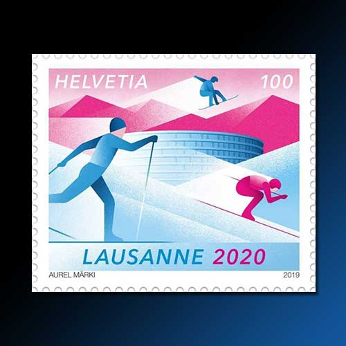 Youth-Olympics-celebrate-on-stamp