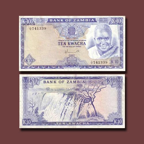 Zambia-10-Kwacha-banknote-of-1976