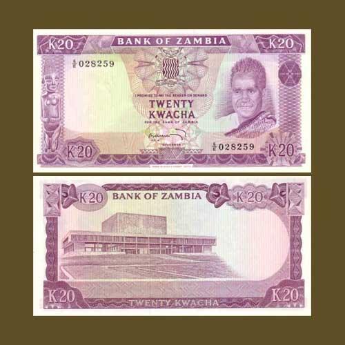 Zambia-20-Kwacha-banknote-of-1969