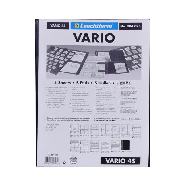 Lighthouse Plastic Pockets VARIO - 4 way division - Black film