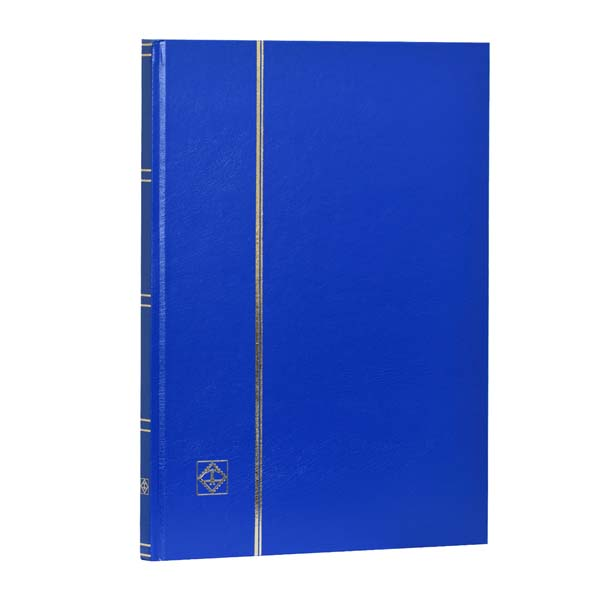 Lighthouse Hardcover Stamp Album Stockbook A4 - 16 White Pages - Blue
