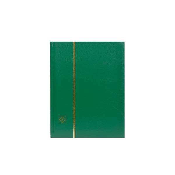 Lighthouse Stockbook A5- 32 black pages- Nonpadded Cover- Green