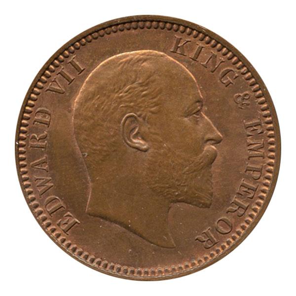 British India King Edward VII Quarter Anna 1904 Calcutta