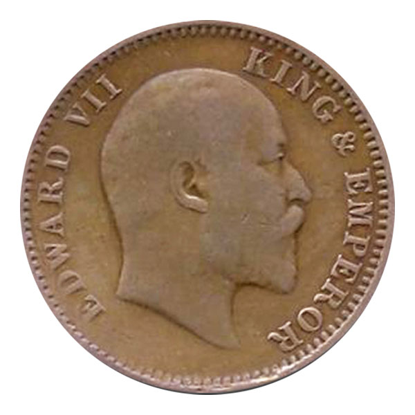 British India King Edward VII Quarter Anna Coin 1907 Calcutta