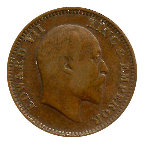 British India King Edward VII Quarter Anna Coin 1910 Calcutta