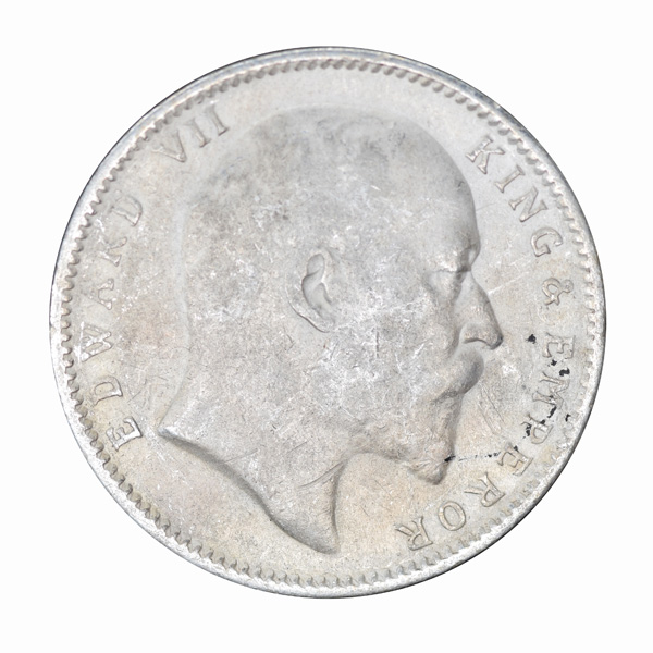 British India King Edward VII One Rupee 1903 Calcutta