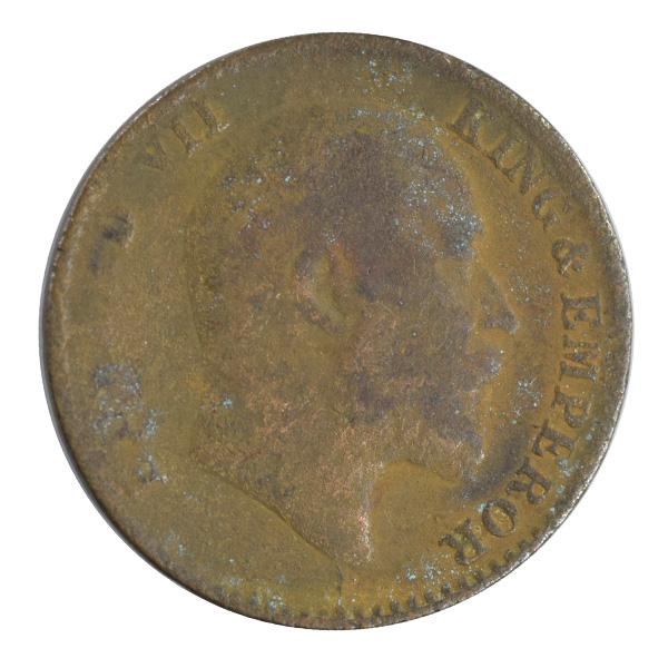 British india King edward VII - 1_12 Anna 1910 calcutta