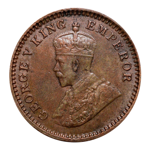 British India King George V 1/12 Anna 1917 Calcutta