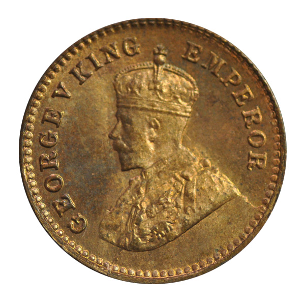 British India King George V 1/12 Anna 1921 Calcutta