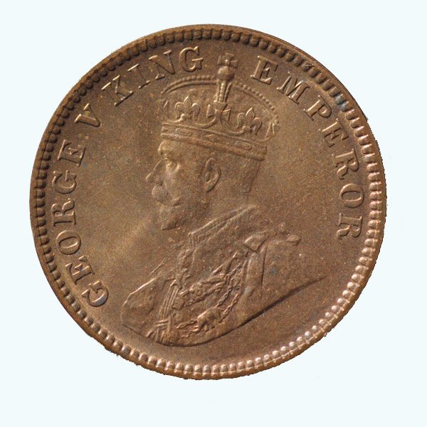 British India King George V Quarter Anna 1933 Calcutta