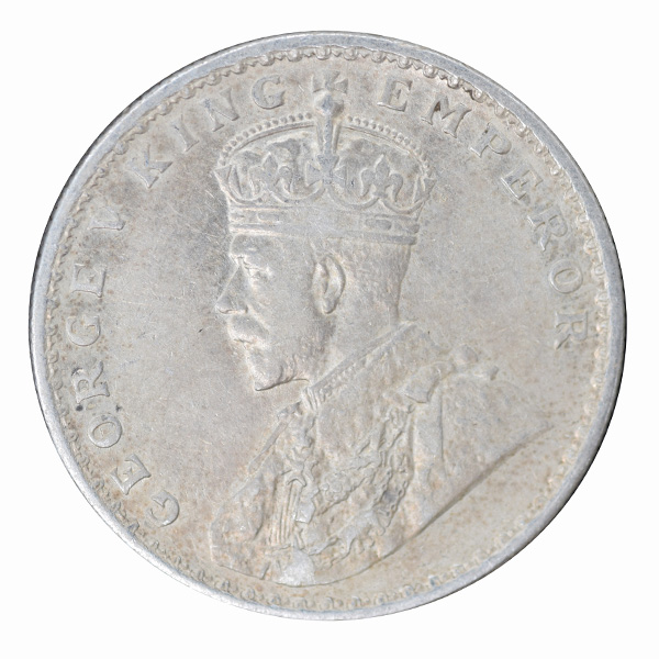 British India King George V One Rupee 1919 Calcutta