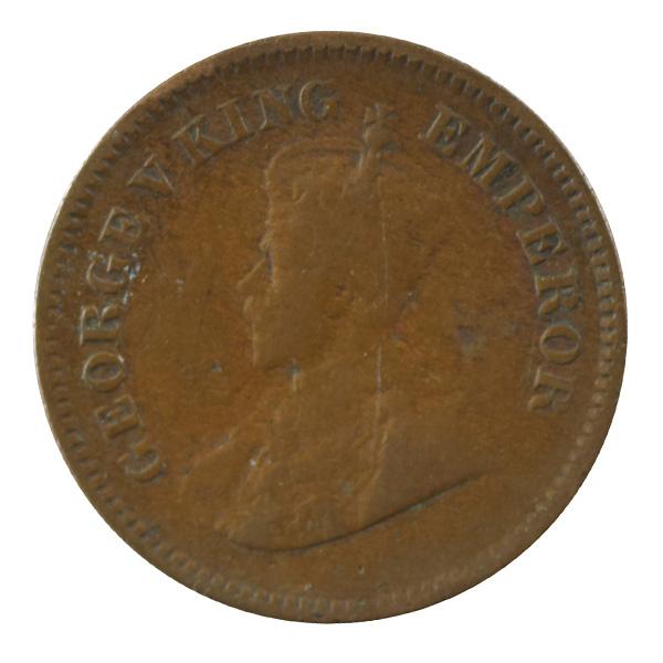 British india King George V - 1/2 pice Coin 1927 calcutta