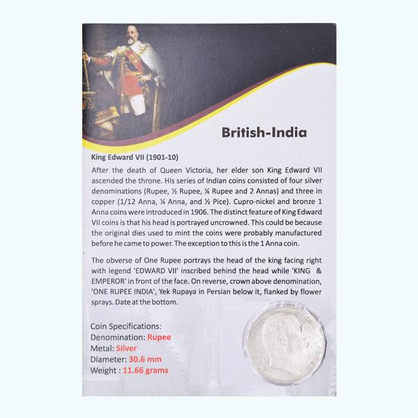 British India King Edward VII One Rupee 1903 Bombay