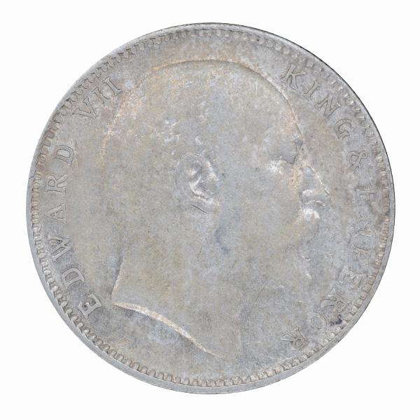 British India King Edward VII One Rupee Coin 1908 Bombay
