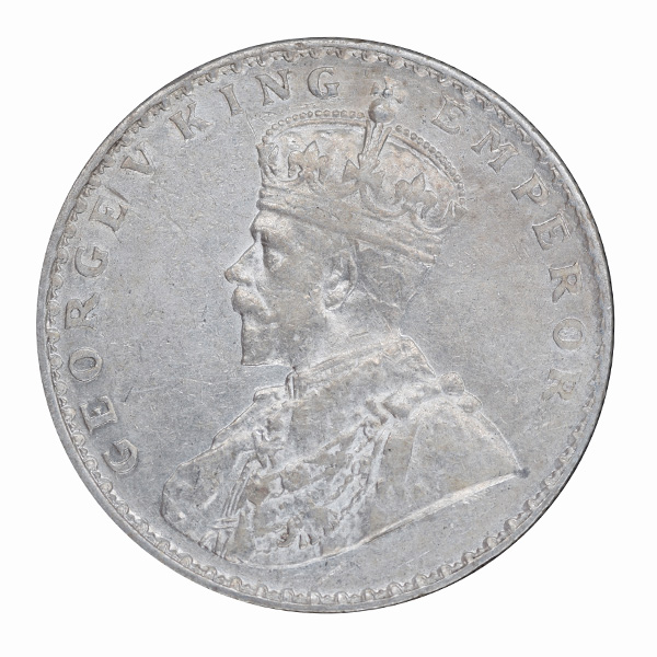 British India King George V One Rupee 1912 Bombay