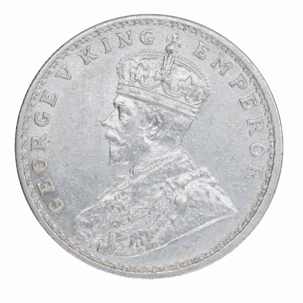 British India King George V One Rupee 1913 Bombay
