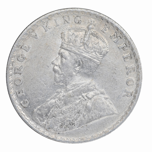 British India King George V One Rupee Coin 1916 Bombay