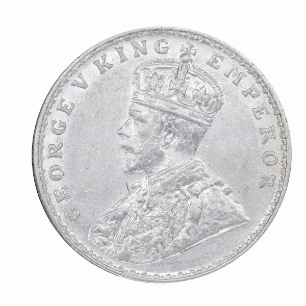 British India King George V One Rupee 1917 Bombay