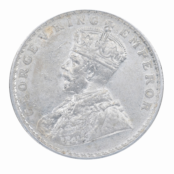 British India King George V One Rupee 1919 Bombay