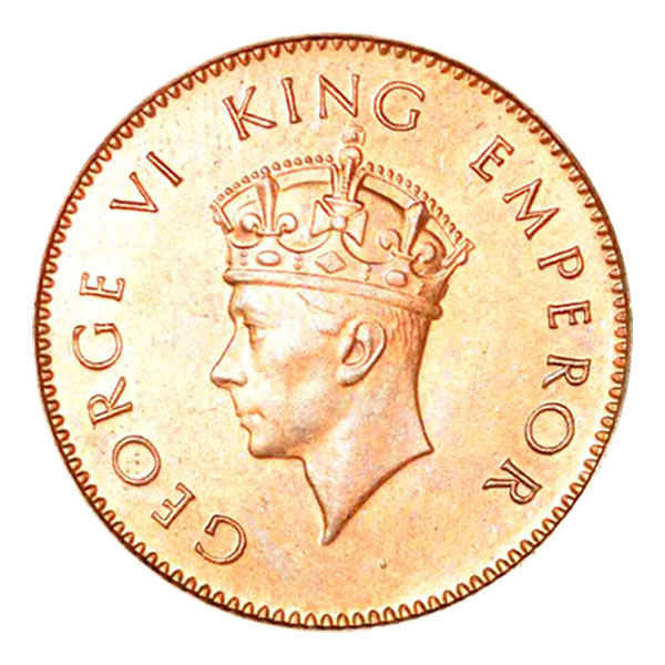 British India King George VI Quarter Anna 1938 Mumbai