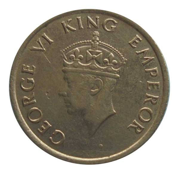 British India King George VI Quarter Rupee 1946 Bombay