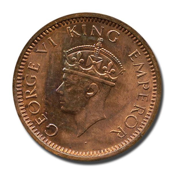 British India King George VI 1/12  Anna Coin 1939 Bombay
