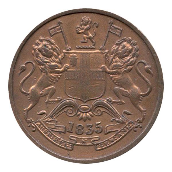 East India Company Uniform Coinage - Half Anna