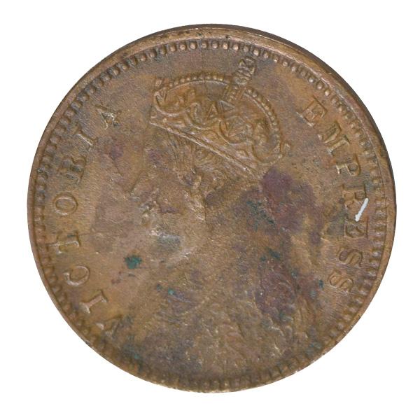 British India Victoria Empress - 1/12 Anna 1897 calcutta