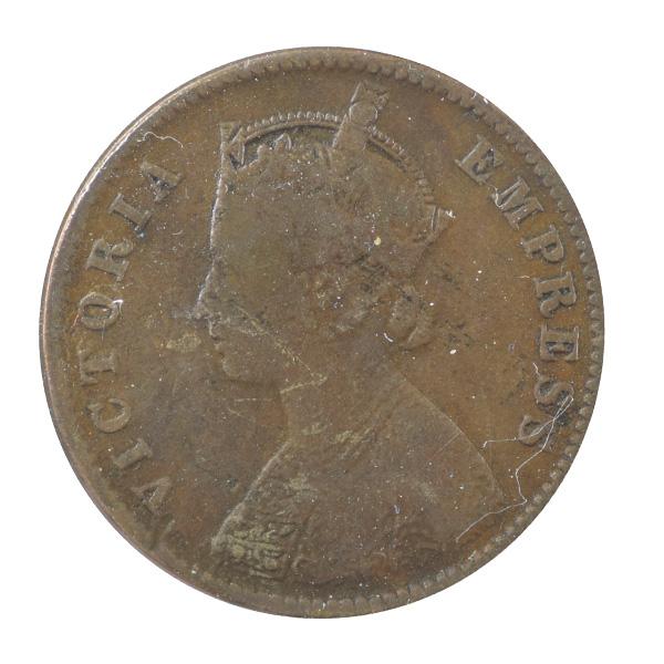 British India Victoria Empress - Quarter Anna Coin 1891 calcutta