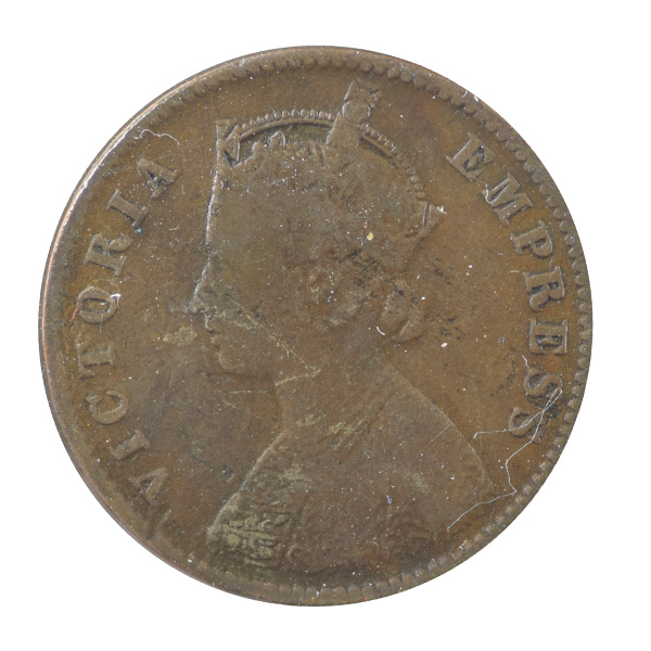 British India Victoria Empress - Quarter Anna 1891 calcutta
