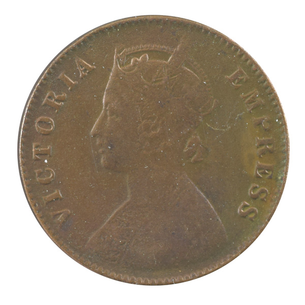British India Victoria Empress - Quarter Anna 1897 calcutta