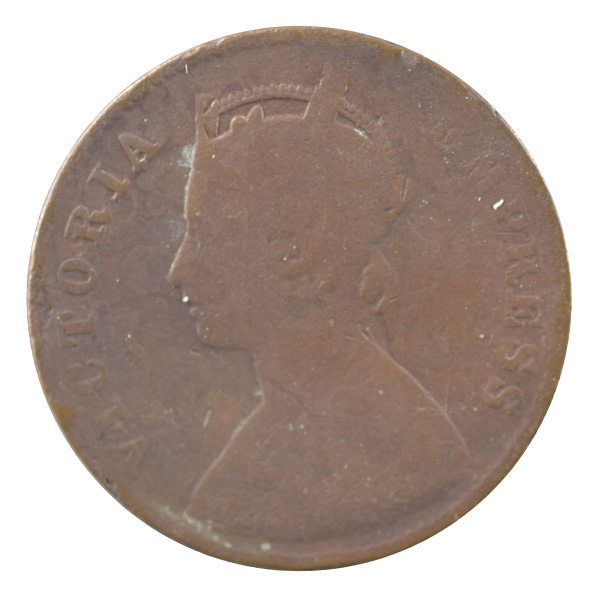 British India Victoria Empress - Quarter Anna 1899 calcutta