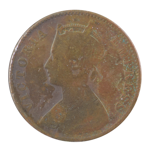 British India Victoria Empress - Quarter Anna 1900 calcutta
