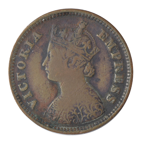 British India Victoria Empress - 1/2 Pice 1896 calcutta