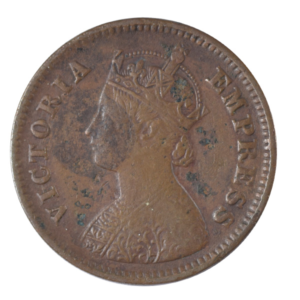 British India Victoria Empress - 1/2 Pice Coin 1897 calcutta