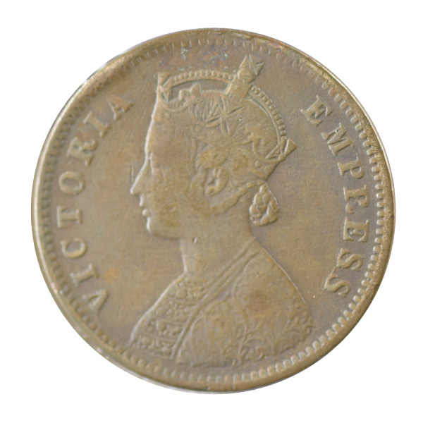 British India Victoria Empress - Quarter Anna 1886 calcutta