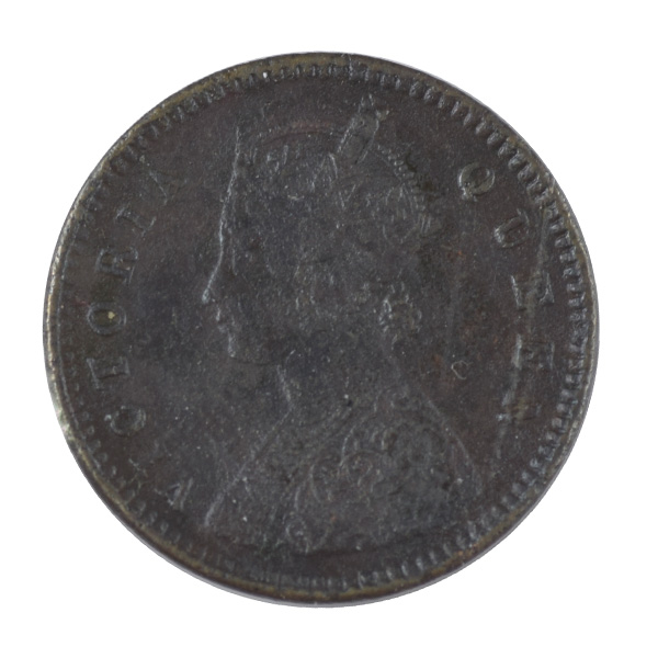 British India Victoria Queen - 1/12 Anna 1876 Calcutta