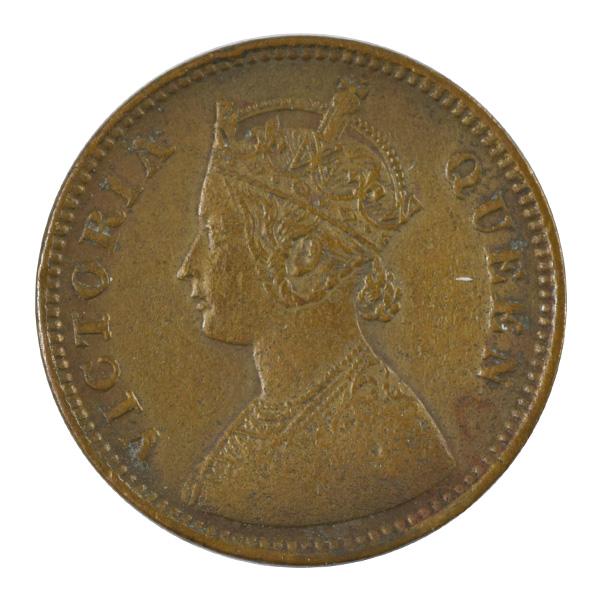 British India Victoria Queen - 1_2 Pice 1862 calcutta