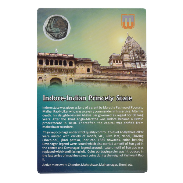 Indore Princely State- Half Anna