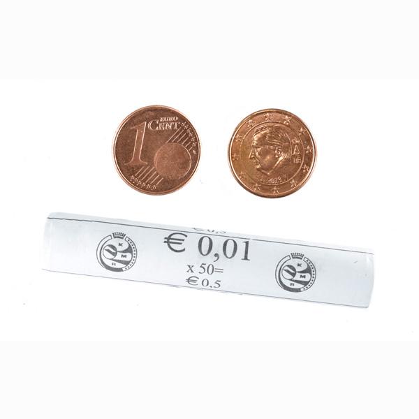 Belgium 1 Euro Cent Mint Roll 50 Coins
