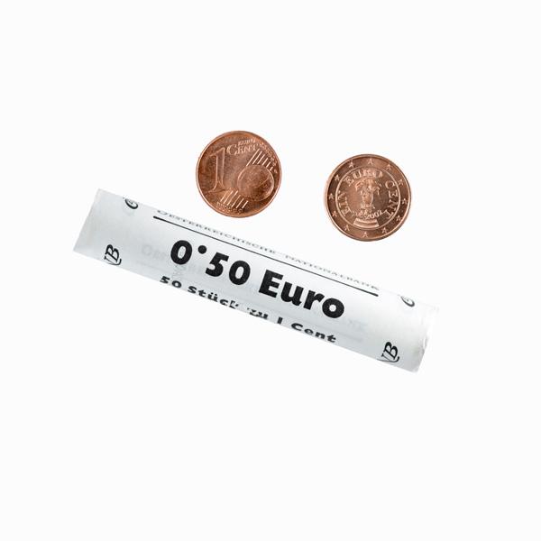 Austria 1 Euro Cent Mint Roll - 50 coins